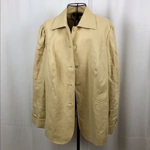 Ralph Lauren Cream Linen jacket with pockets 14W